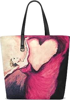 Dancing Love Song Tote Bag Purse Handbag Womens Gym Yoga Bags for Girls