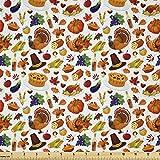 Lunarable Thanksgiving Stoff von The Yard, Food Fundance