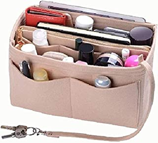 Purse Organizer Insert, Felt Bag organizer with zipper, Handbag & Tote Shaper, For Speedy Neverfull Tote