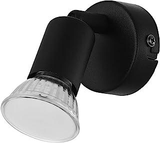 EGLO Applique Murale Intérieure Buzz-Led, Luminaire D'Intérieur Moderne, Lampe de Salon et de Couloir en Métal Noir, Spot ...