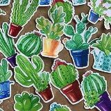 Navy Peony süße Getopfte Kaktus Sticker Set   kleine wasserdichte Sticker für Laptop, Skateboards und Handyhüllen   süße Sticker für Scrapbooking, Tagebuch, Planer und Zeitung (21...