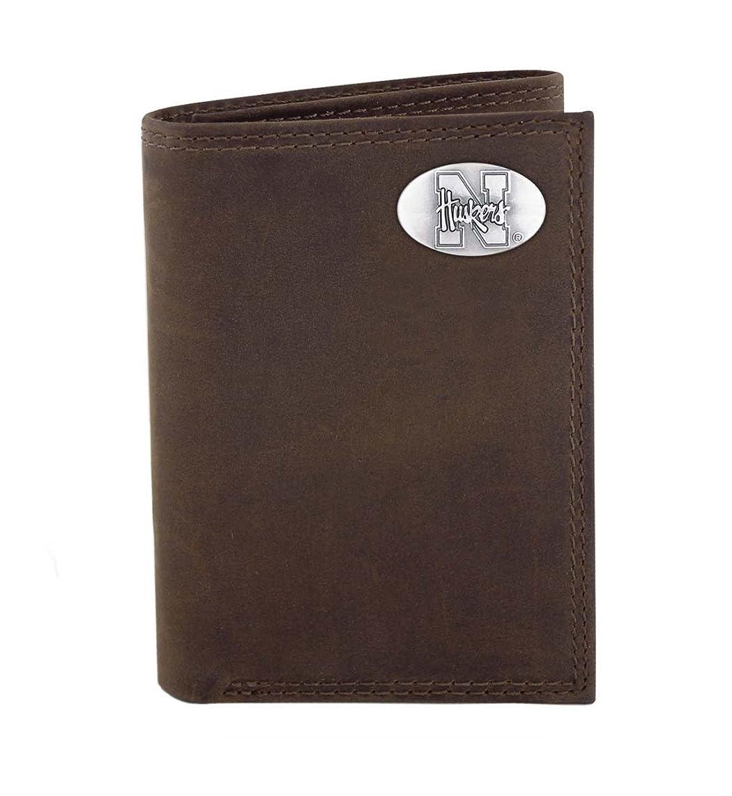 救援アクセス深さネブラスカ州クレイジーホースレザー三つ折り財布