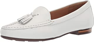 Driver Club USA Womens Leather Made in Brazil Palm Beach Loafer, White