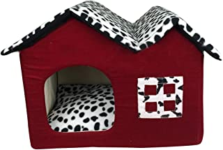 comprar comparacion YUENA CARE Casa y Cama para Dormir para Perro Gato - Nido Cueva para Mascota Blando Cómodo Plegable Cálido para Invierno #4
