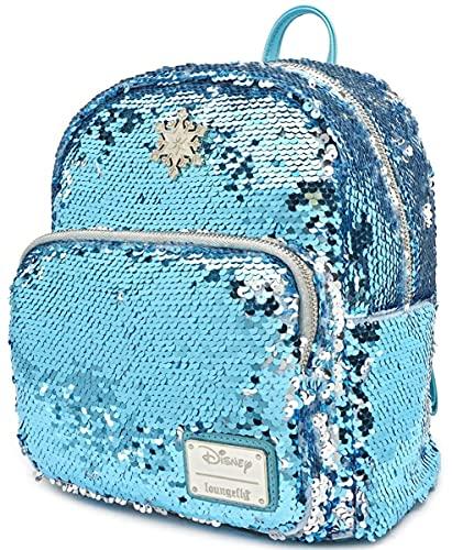 Loungefly Frozen Elsa Reversible Sequin Mini Backpack