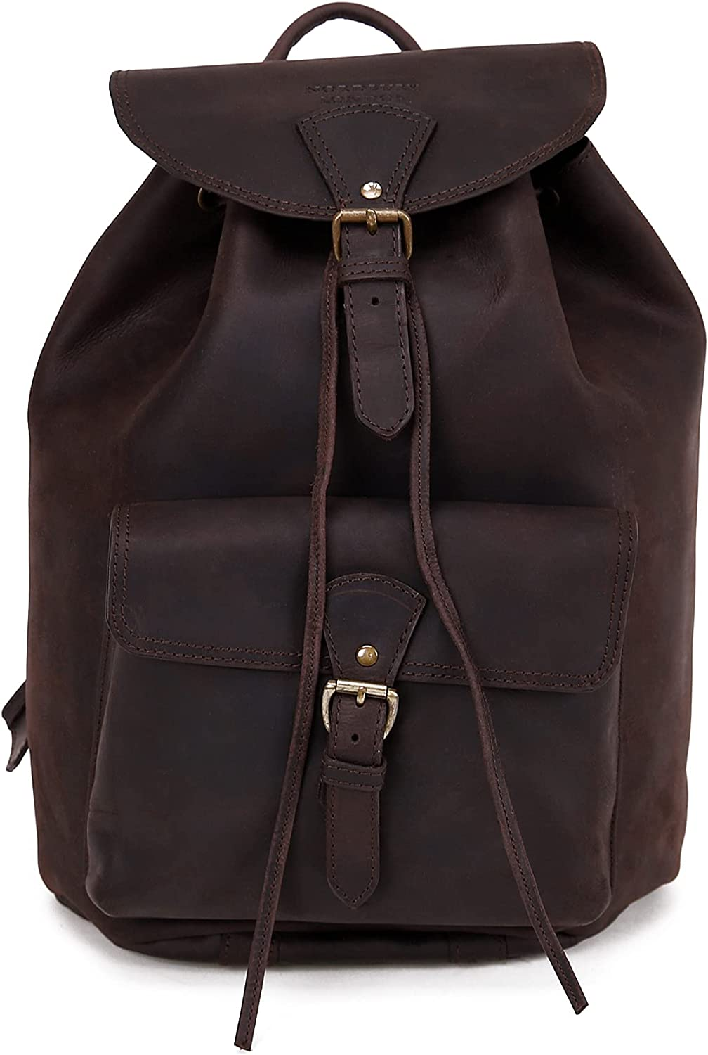 Ranking TOP8 NORDBURY Max 71% OFF Hand-Crafted Genuine Leather Bag Fash Backpack Rucksack