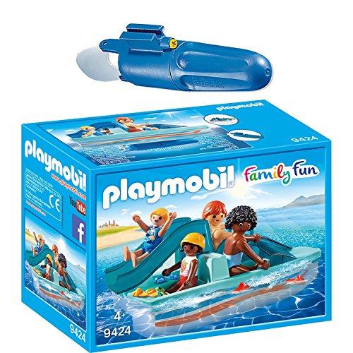 PLAYMOBIL® Family Fun 2er Set 9424 7350 Tretboot + Unterwassermotor