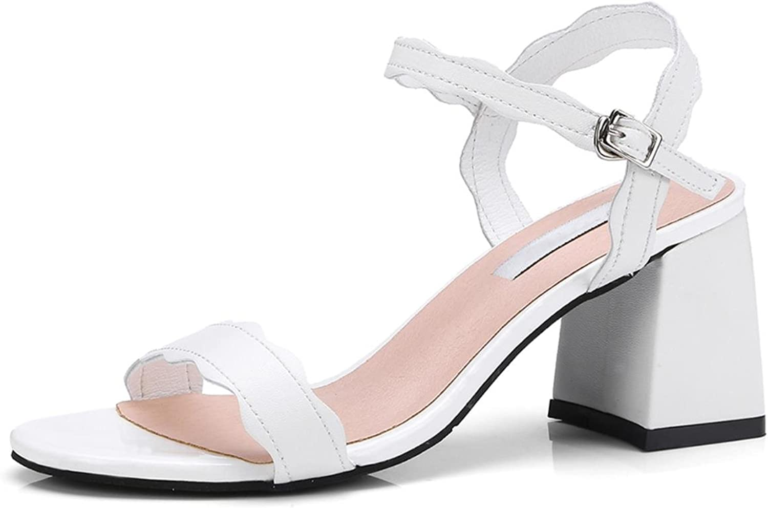 Best Quality Genuine Leather Ankle-Strap Fashion Summer Woman Sandals