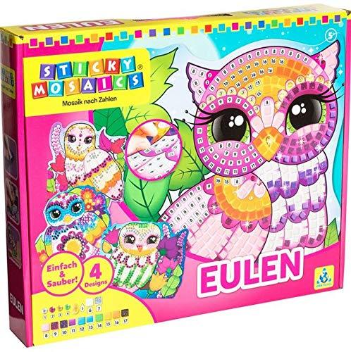 Orb Factory 620888 - Sticky Mosaics Owls, Farblich Sortiert