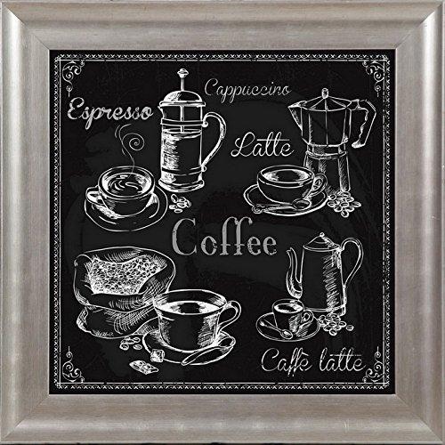 Endless Creations - Lavagna da caffè con cornice, 30 x 30 cm