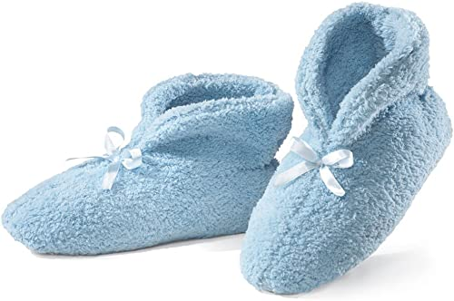 popular Ultra lowest Plush Chenille Slippers, Blue, sale Large online