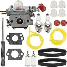 Venseri C1U-P27 Carburetor + Air Filter Tune Up Kit + Fuel Filter Line Primer Bulb for MTD Troybilt MS2550 MS2560 MS9900 RM430 TB2040XP TB2044XP TB2MB TB430 Craftsman 316791020 316795860 Trimmer