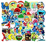 ZJJHX Sesame Street Cute Cartoon Stickers Maleta Maleta Skateboard Notebook Refrigerador Motocicleta Coche eléctrico Graffiti Pegatinas Impermeables 50 Hojas