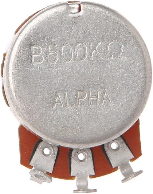 Potenciómetro B500K para guitarra eléctrica con efecto de bajo amplificador y volumen
