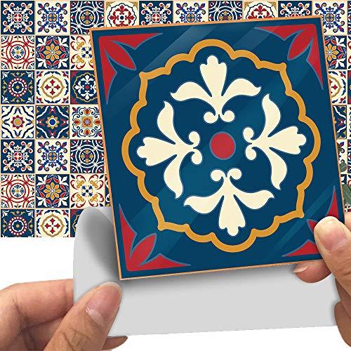 UPANV Fliesen-Dekorationsaufkleber Im Venezianischen Stil Für Wände [32 Stück, 6 X 6 Zoll] Abnehmbare Wandaufkleber Umweltfreundliche Selbstklebende Vinyl-Fliesenaufkleber
