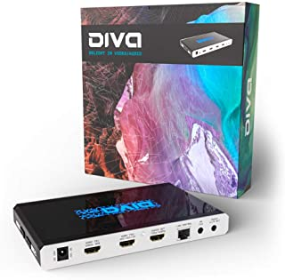 HDFury 4K Diva 18Gbps | HDMI/eARC Audio Extract | 4K HDR Splitter | Auto-Switcher (4input| Safari/Chrome ctrl | TV's Ambie...