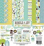 Echo Park Collection Kit (30,4x 30,4cm, Paquete de alegría/una Nueva adición–Baby Boy