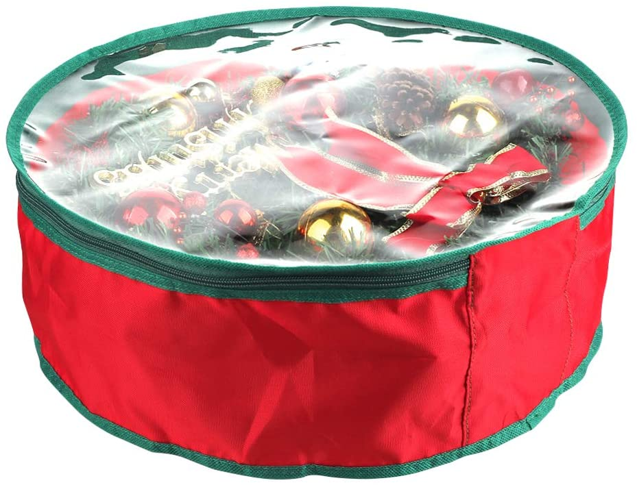 TITA-DONG Xmas Super Special Long Beach Mall SALE held Wreath Storage Bag Holiday Clear 20 Inch Garland