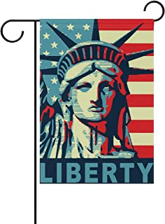 MOYYO American Flag Statue of Liberty Garden Flag 12 x 18 Inch Yard Garden Flag Double Sided Decorative Flag for Patio Lawn Outdoor Home Decor