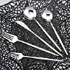 Uniturcky 銀食器セット 30点 304ステンレススチール 銀食器 食器セット カトラリー テーブルウェア 鏡面仕上げ ナイフフォーク スプーン付き 6人用 食洗機対応 (シルバー)
