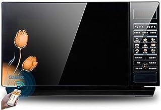 LICHAO Horno de microondas, Horno de microondas Comercial Compacto de Servicio liviano, Sensor Inteligente, fácil de Limpiar, Negro