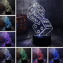 KLJLFJK Acrylic Night Light Fun Scorpion Poker Game Party 3D Night Lights Led Table Sleep Lights Living Room Decoration Toys Christmas Birthday Gifts