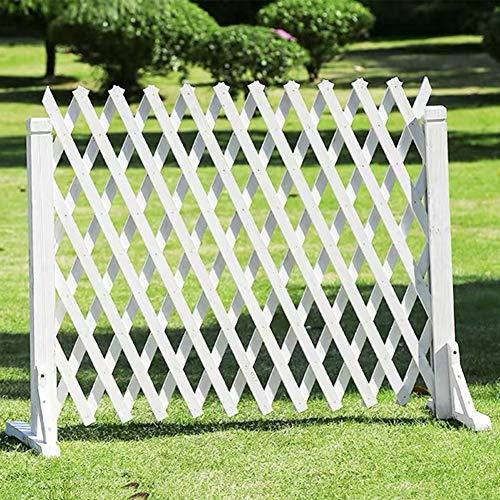 WXQ Gartenzaun Bildschirm Holz-Zaun Extensible Außendekoration Reling, 2 Farben, Verschiedene Größen (Color : B, Size : 110X180CM)