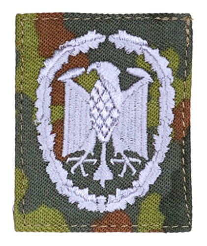 Viele verschiedene Stoffabzeichen: leistungsabzeichen und Barettabzeichen der Deutschen Bundeswehr Aufnäher für Uniform Ärmel oder Barett (Silber auf flecktarn)