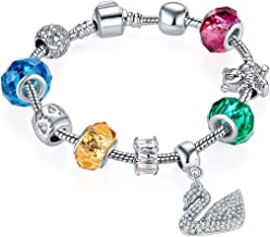 Jewels Galaxy Crystal Elements Limited Edition Elegant Colors Fabulous Charm Bracelet For Women/Girls