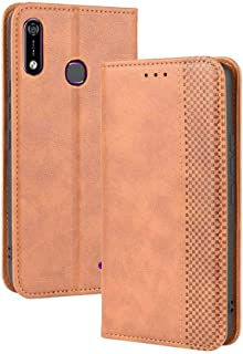 Case for Infinix Hot 7 X624B,Leather Stand Wallet Flip Case Cover for Infinix Hot 7 X624B,Retro magnetic Phone shell,Walle...