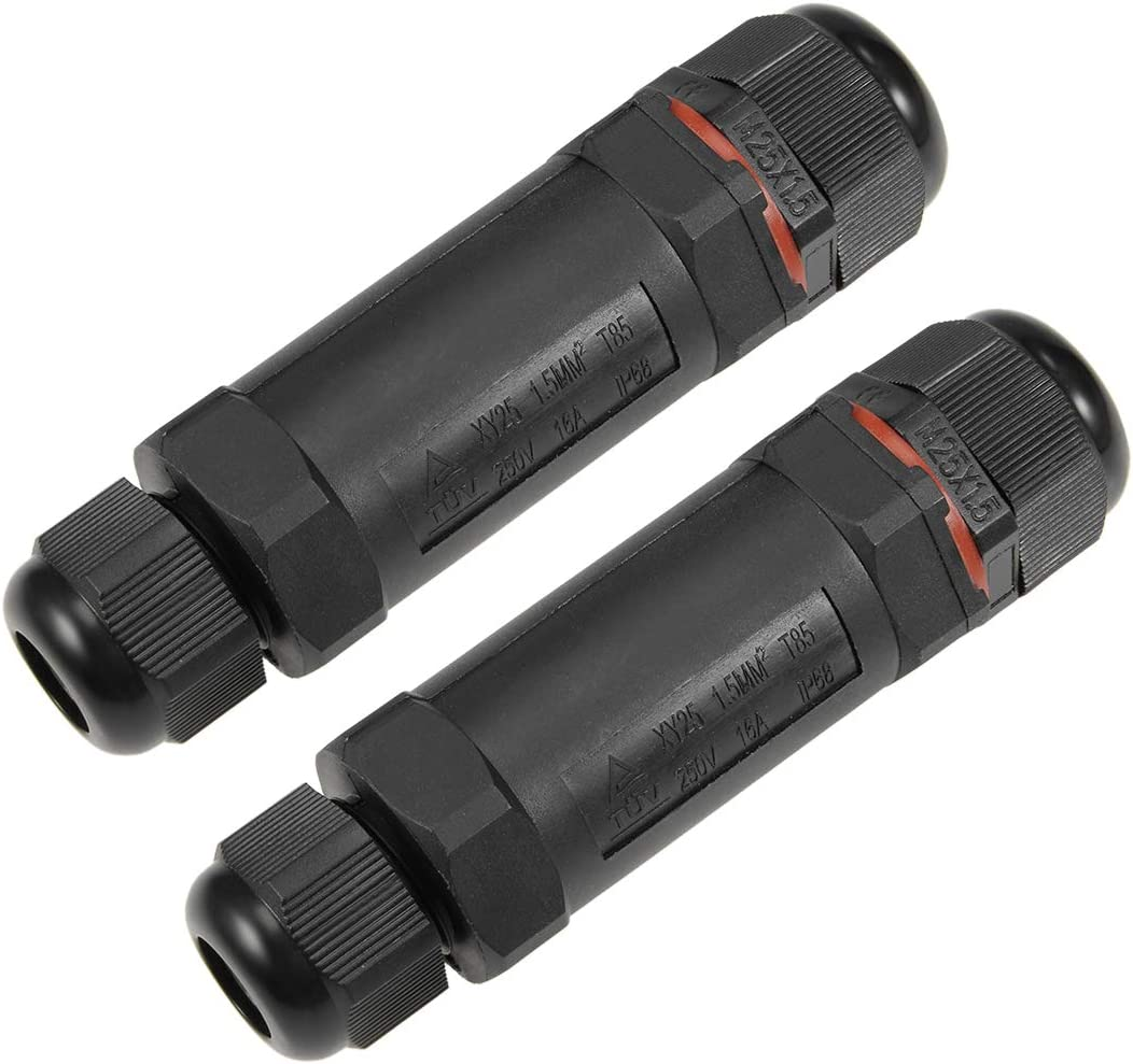 uxcell 2PCS Waterproof Max 48% Free Shipping New OFF IP68 5 Outdoor Pole Electrical External J