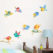 Rawpockets 'Birds Nest and Their Family' Wall Sticker (PVC Vinyl, 0.99 cm x 130 cm x 80 cm)
