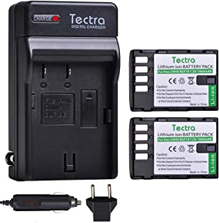 Tectra 2-Pack Battery and Charger Kit for Panasonic DMW-BLF19, DMW-BLF19E, DMW-BLF19PP and Panasonic Lumix DC-GH5, DMC-GH3, DMC-GH3K, DMC-GH4, DMC-GH4K Digital Camera