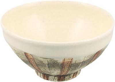 美濃焼 男の器 高台飯碗 大 塗り分け彫十草 K90124
