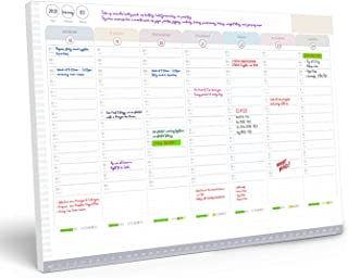 Weekly Planner Pad – to Do List Notepad Organiser – Day Planner with Sticky Notes, Desk Planner for Meal, Menu, Appointmen...