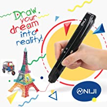 3D Printing Pen Kids Printer with LCD Screen | Professional Grade for Kids and Adults | Safe to Make Doodles, Arts, Crafts | USB Power Supply Niji Global USA Brand