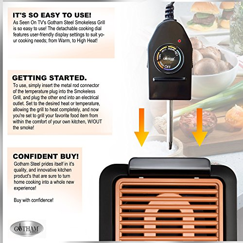 Gotham Smokeless Grill Features