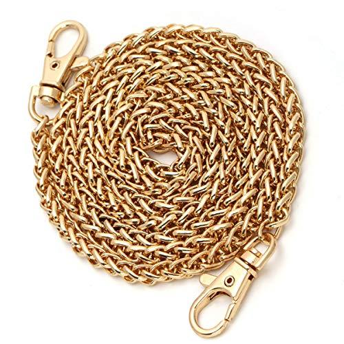 Purse Chain Replacement, Luxiv Women Purse Chains Gold Handbag Chains DIY Shoulder Cross Body Bag Chain 47 Metal Handbag Gold Cross Body Chain Replacement Straps Chain Purse Making Supplies (Gold)