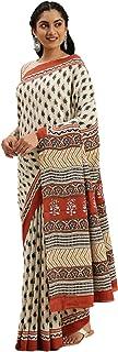 Pure Cotton Indian Handcrafted Kalamkari Print Saree Blouse Formal Woman Occasional Sari 6321 6