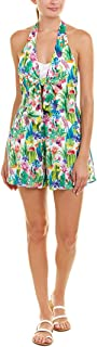 Women's Green Cactus Romper Swimsuit Cover-up
