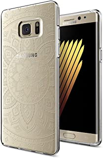 Spigen Liquid Crystal Shine designed for Samsung Galaxy Note 7 / Note FE case / cover - Crystal Clear with Mandala Pattern