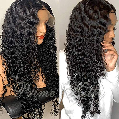360 Lace Wigs Pre Plucked Brazilian Virgin Human Hair Wigs 360 Lace Frontal Wig for Black Women with Baby Hair Body Wave Curly Wigs 360 Wig for High Ponytail Updo Any Part Loose Curly 14'130%