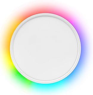 چراغ سقفی سقفی LED LED Flush Mount ، سازگار با الکسا گوگل هوم ، نور قابل تنظیم 12 اینچی 24 وات 2000 لیتری با چراغ روشنایی محیط برای مهمانی سالن غذاخوری اتاق نشیمن اتاق خواب