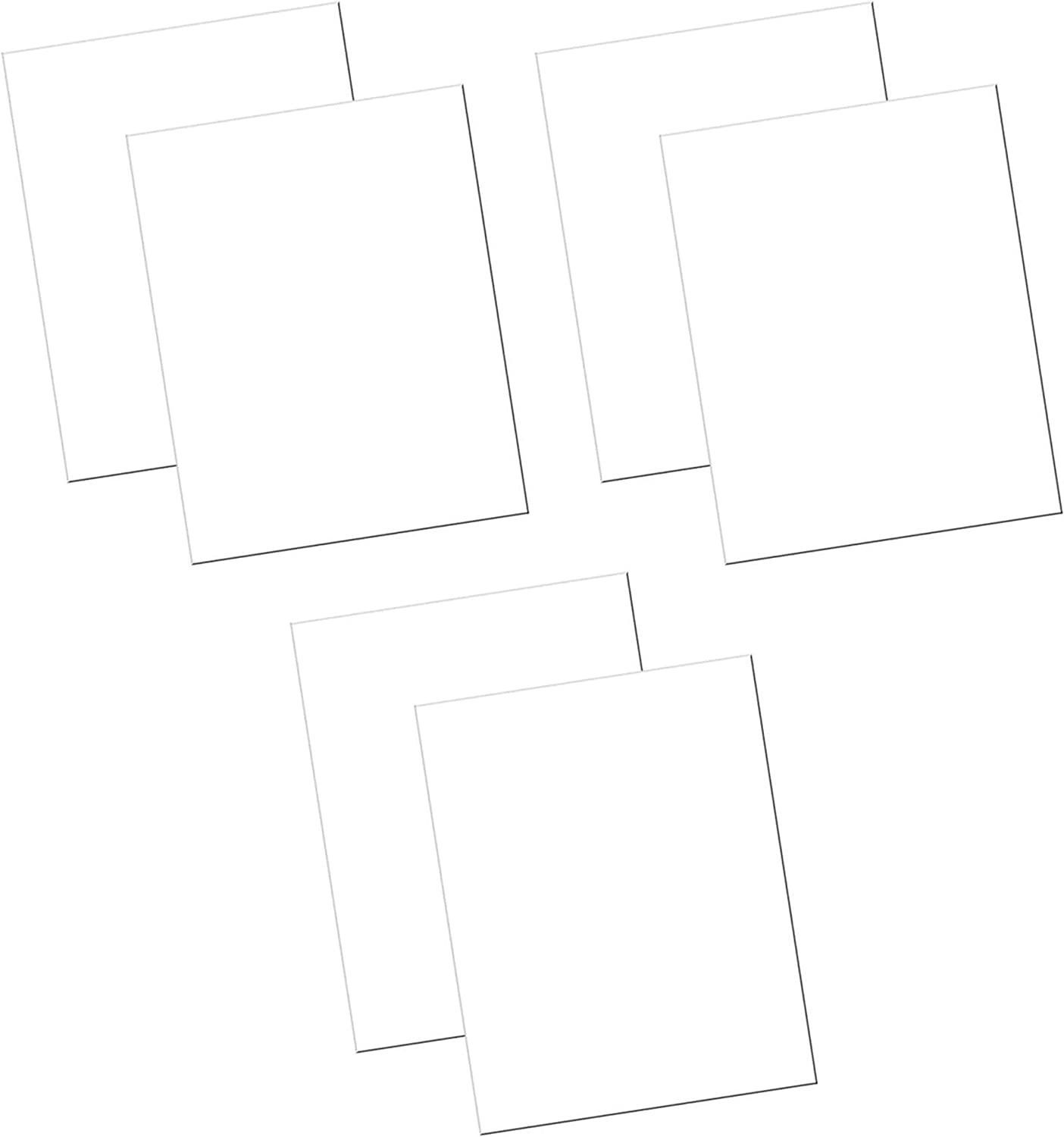 Four Pack UCreate Economy Poster Board White 100 Sheets//Carton 22 x 28