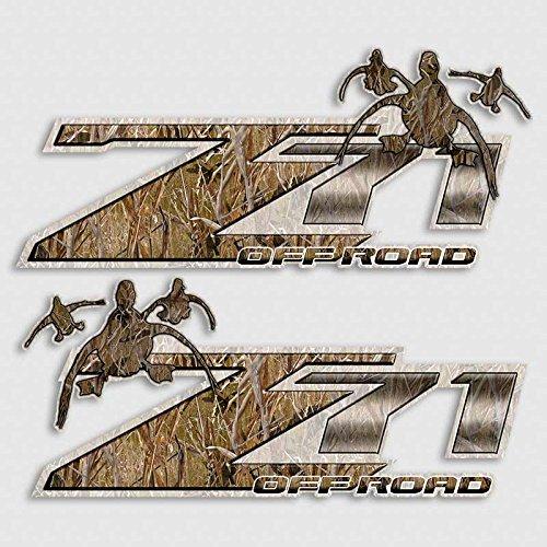 Duck Hunting Shadow Grass 4x4 Decal Set for Z71 Silverado Truck