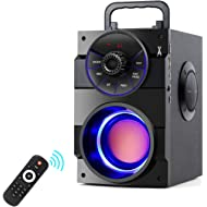 TAMPROAD Portable Bluetooth Speakers with Subwoofer Rich Bass Wireless Outdoor/Indoor Party...
