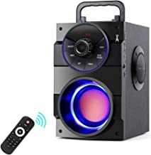 TAMPROAD Portable Bluetooth Speakers with Subwoofer Rich Bass Wireless Outdoor/Indoor Party Speakers MP3 Player Powerful Speaker Support Remote Control FM Radio for Phone Computer PC Home TV