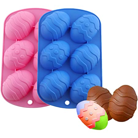 2 Pieces Easter Egg Shape Cake Baking Mold,Chocolate Mold for Chocolate Bombs and Handmade Soap Pastry Cake Dessert Decoration