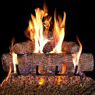Peterson Real Fyre 24-inch Live Oak Log Set With Vented Burner, Match Lit (Natural Gas Only)