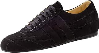 Werner Kern 28060 - Zapatillas de baile para hombre, piel de ante negra, normal, tacón de 1,5 cm, fabricadas en Italia